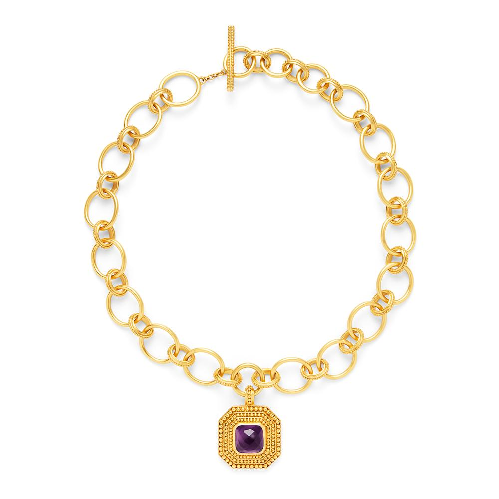Luxor Statement Necklace Amethyst