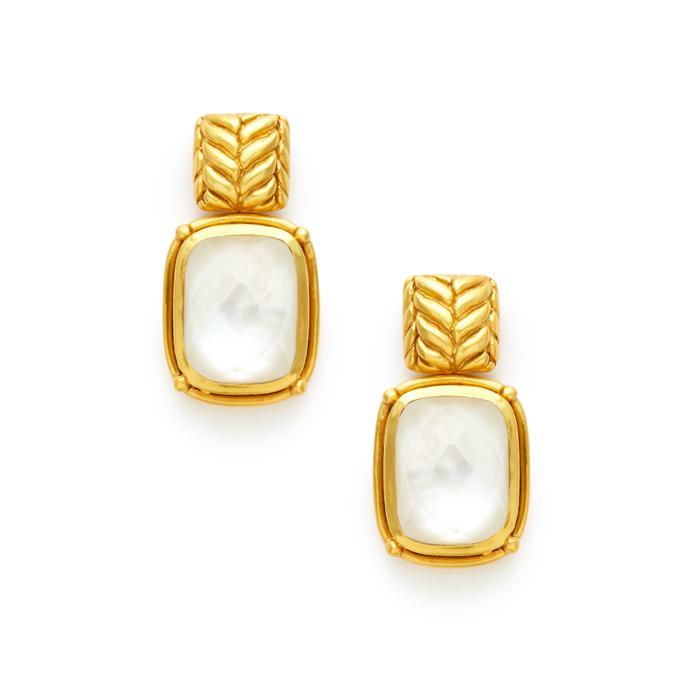Montery earring Clear crystal earrings