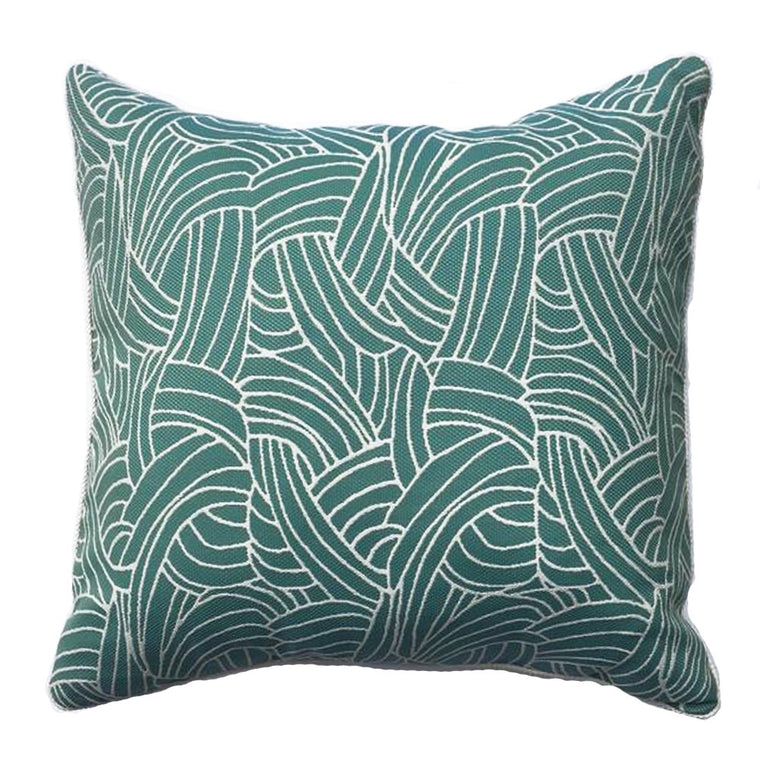Z - THE ALISE PILLOW - AQUA & WHITE - Two In Stock
