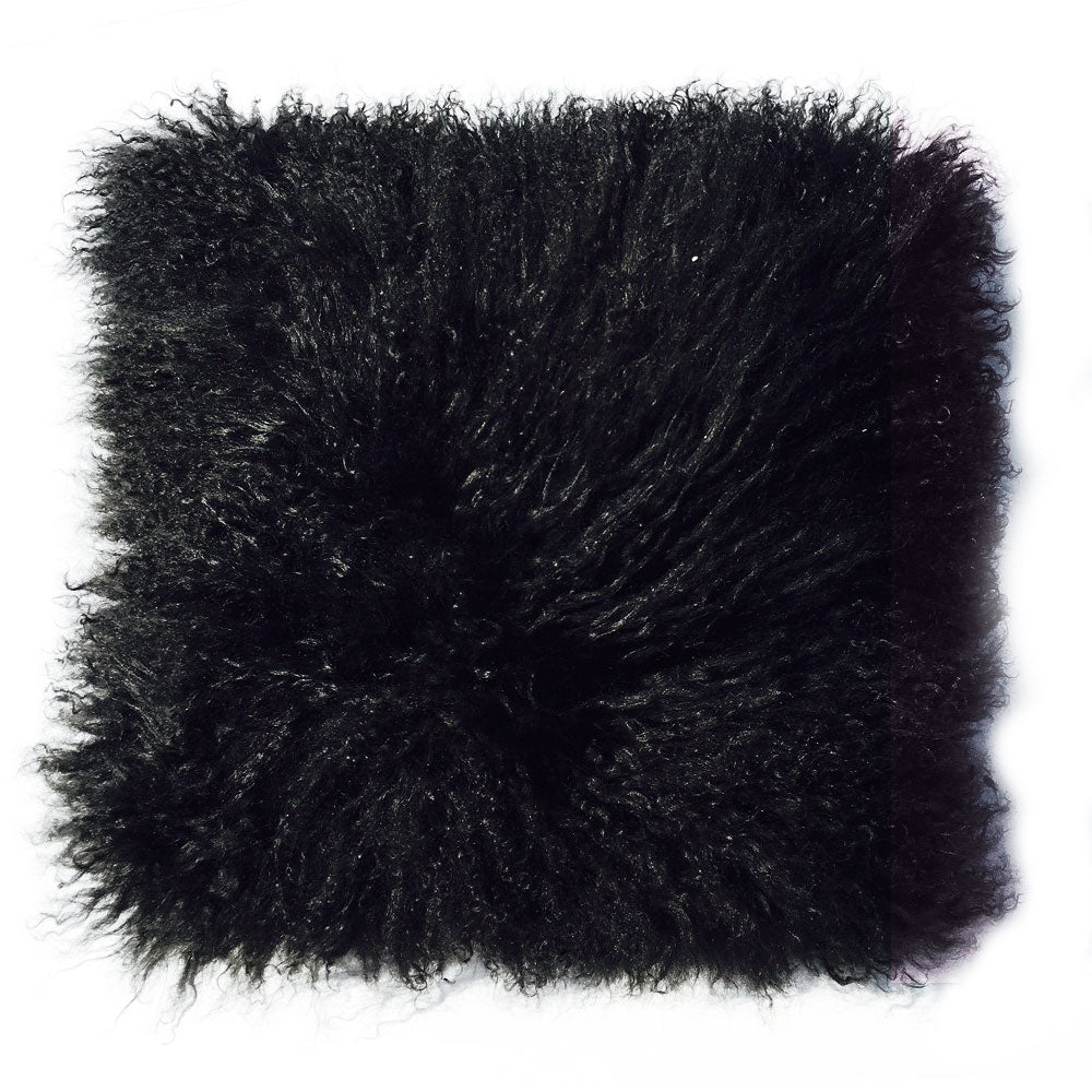 "THE INGA PILLOW  -  Longwool Tibetan  -  16"" X 16""  -  One in Stock"