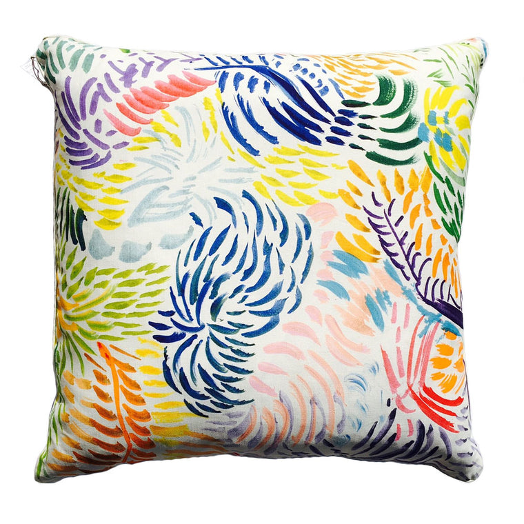 "THE MABEL PILLOW  -  Brushed Multi Color Pattern  -  26"" x 26""  -  Two in Stock  -  FREE SHIPPING"