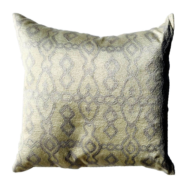 "THE PAMELA PILLOW  -  Cream & Blue Emb  -  22"" x 22""  -  Two in Stock  -   FREE SHIPPING"