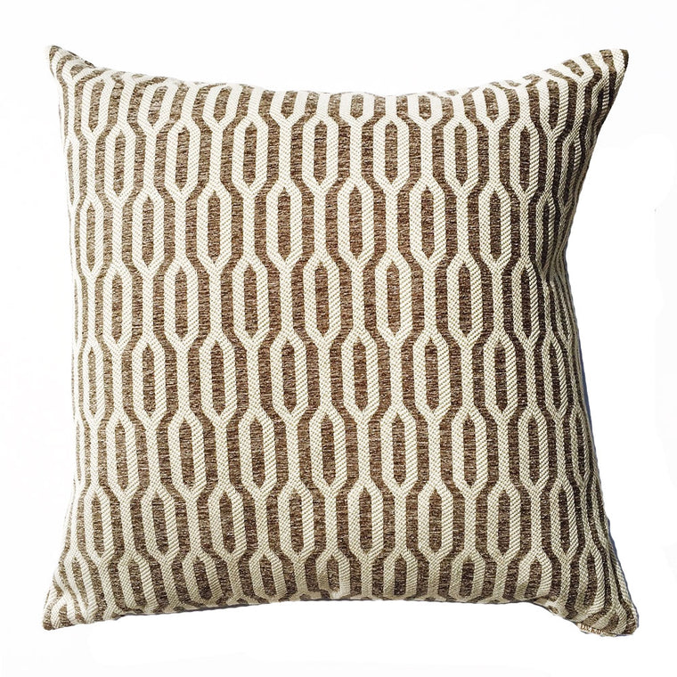 "THE TIA PILLOW  - TAUPE  -  22"" X 22""  -  Two in Stock"