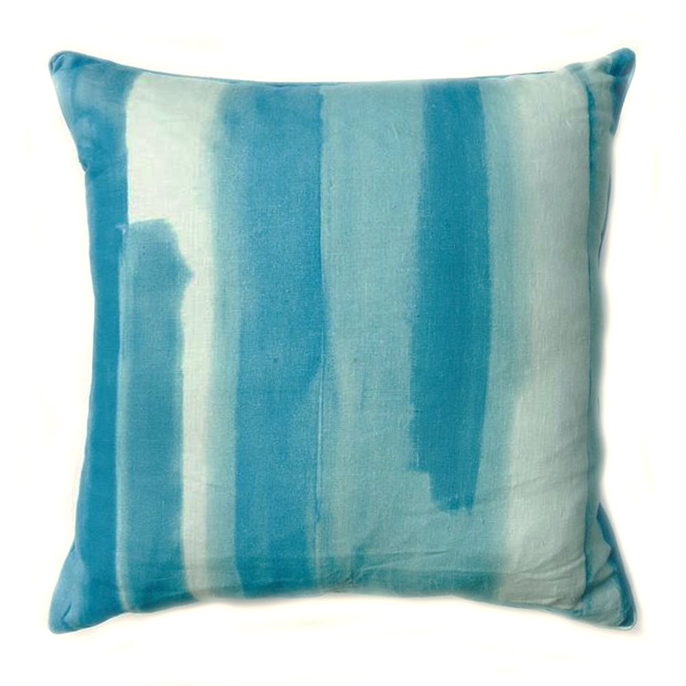"ZZ - THE ANNIE PILLOW - Watercolor Aqua  -  22""x 22"" - Two in Stock"