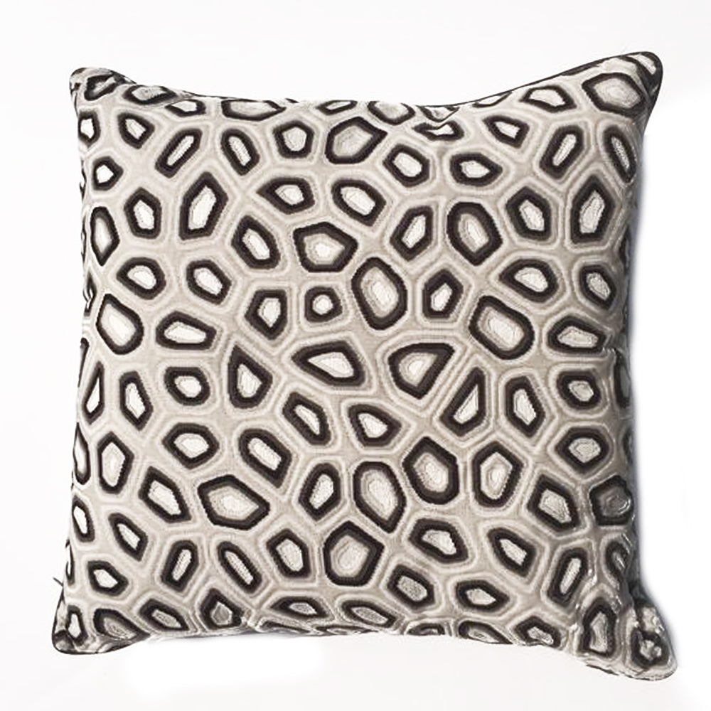 "ZZ - THE BAYLIE PILLOW  -  Tortoise Pattern  -  22"" x 22""  -   Two in Stock"
