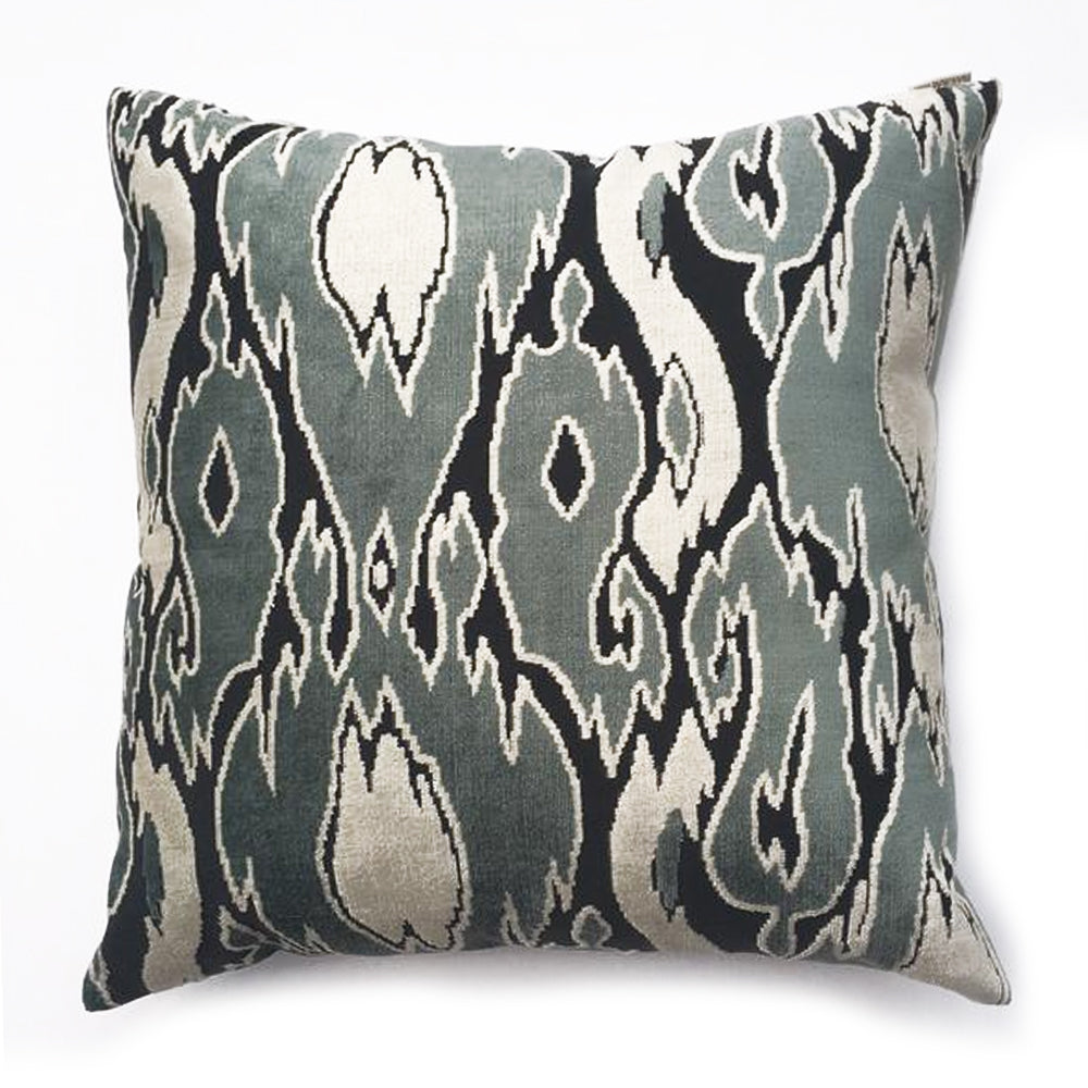 "THE BETHANY PILLOW  -  Warm Green, Gray and Cream Tones  -  22"" x 22"""