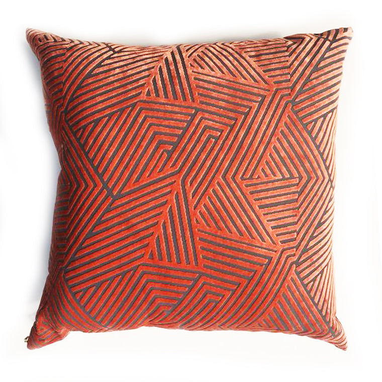 "Z - THE MILLIE PILLOW  -  CORAL   - 22"" X 22""   -   One in Stock"
