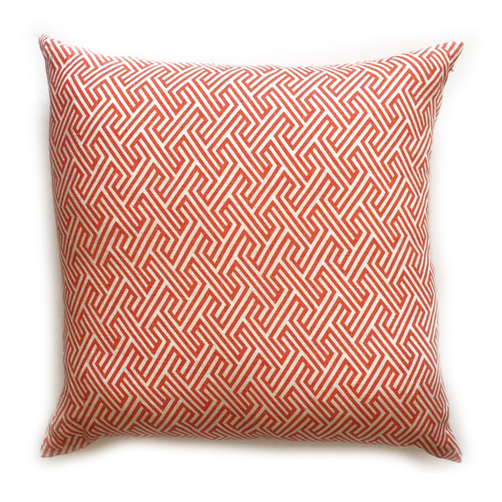 "THE OPHELIA PILLOW  -  Orange Geometric Pattern  -  22"" X 22""  -  Two in Stock  -   FREE SHIPPING"