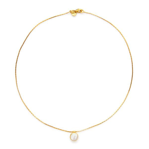 VALENCIA DELICATE NECKLACE GOLD MOTHER OF PEARL