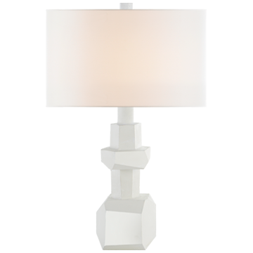 MEDIUM TABLE LAMP IN PLASTER WHITE