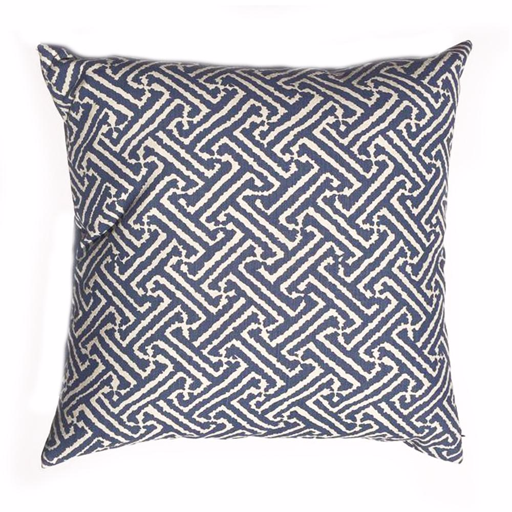 "Z - THE BILLIE PILLOW   -  Blue Java Grande  -  24"" x 24""  -   Two in Stock"