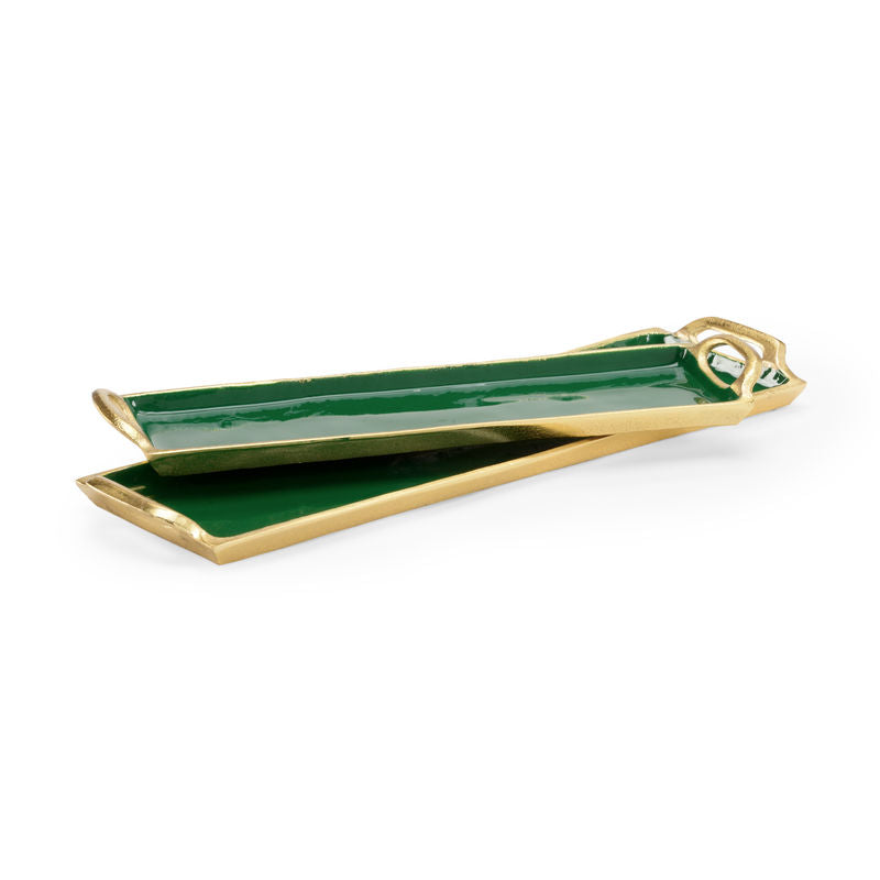 EMERALD ENAMEL TRAY SMALL