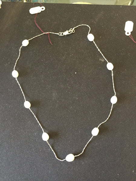 PEARL NECKLACE & SILVER CHAIN