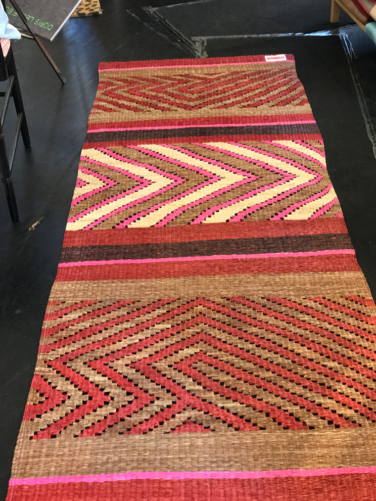 "Seri Red and Pink Rug 32""x87"""