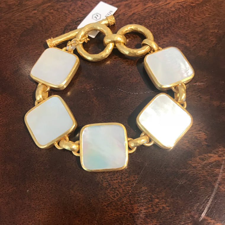 CATALINA BRACELET GOLD FLAT MOTHER OF PEARL