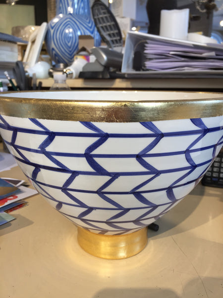 BOWL FOOTED BLUE/WHITE