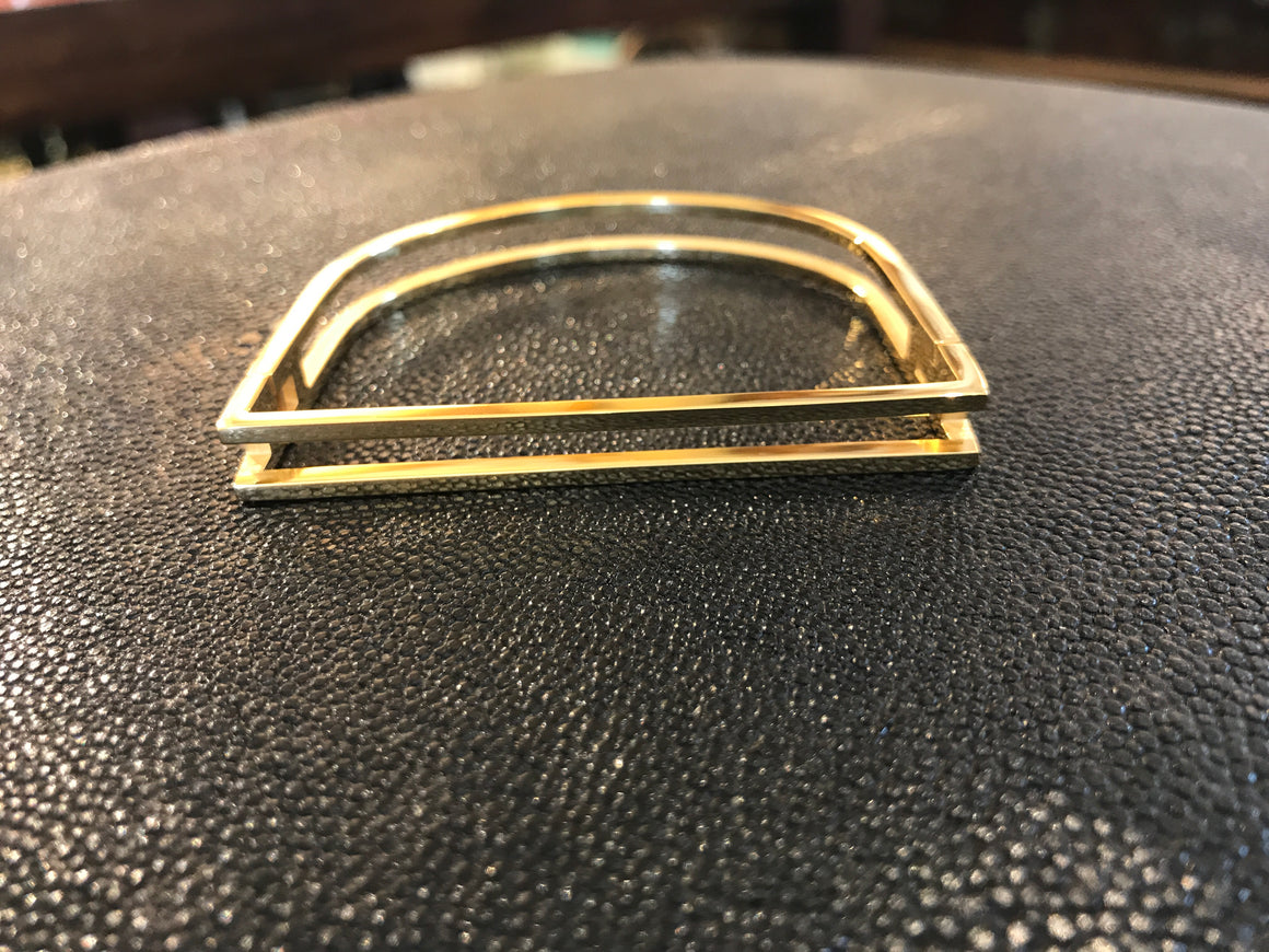 GOLD CUFF WITH RECTANGLE DESIGN