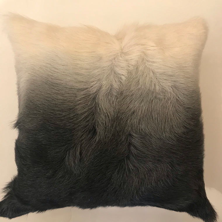 Billy Ombre Pillow White and Gray- 23x23 - Two in Stock
