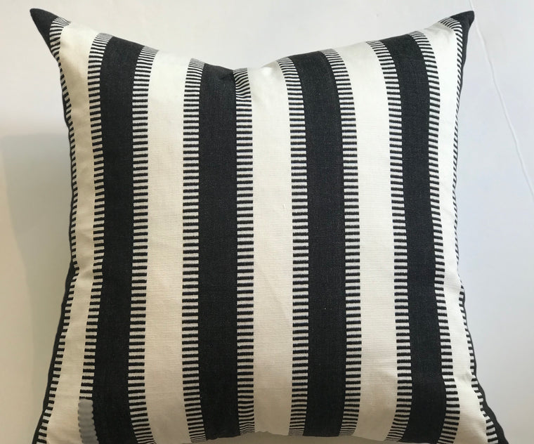 LILA PILLOW-BLACK AND WHITE - 24 X 24 - FREE SHIPPING