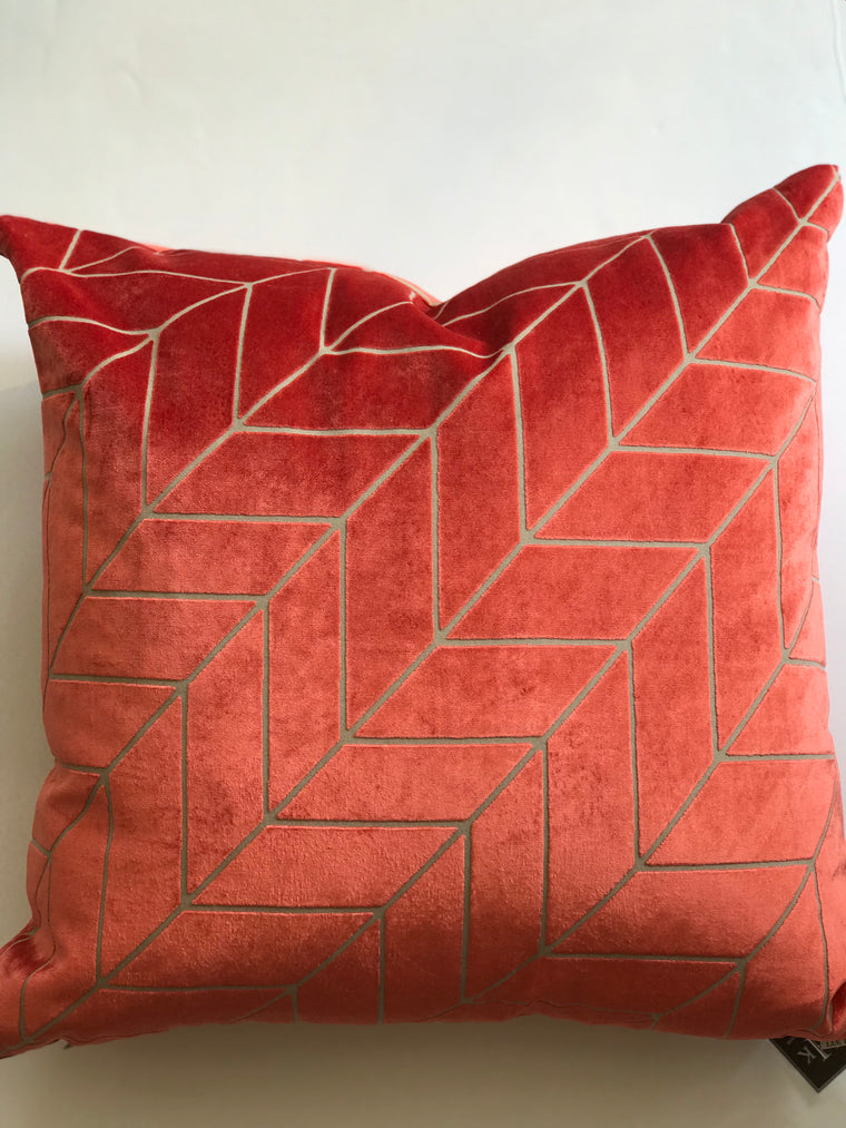ARROW CORAL PILLOW- 24 x 24- TWO In Stock