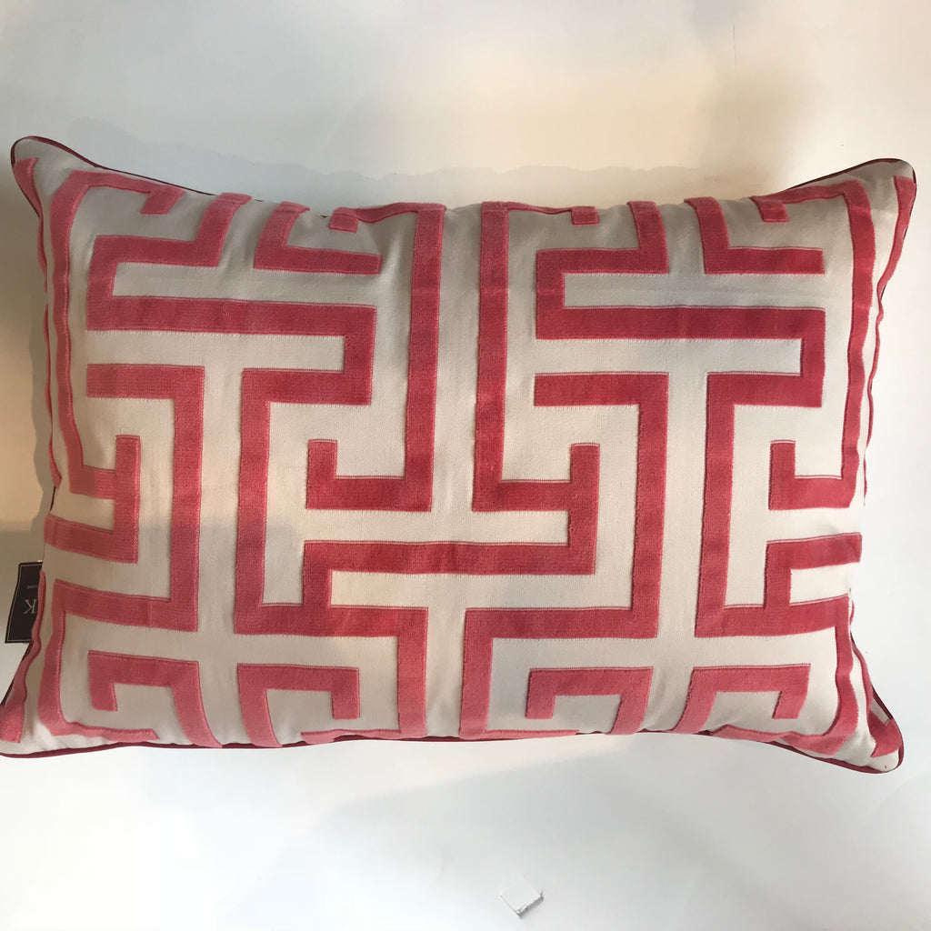 MING TRAIL RED PILLOW -  14x20- TWO IN STOCK