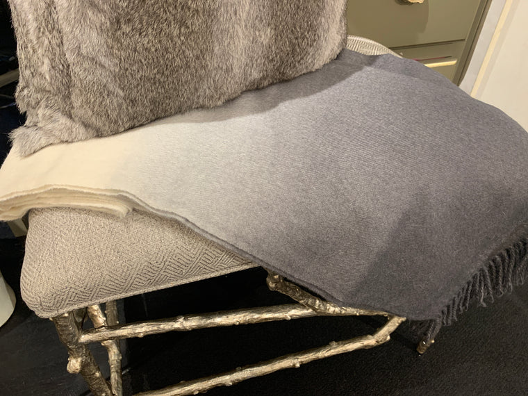 ANGORA THROW PEWTER