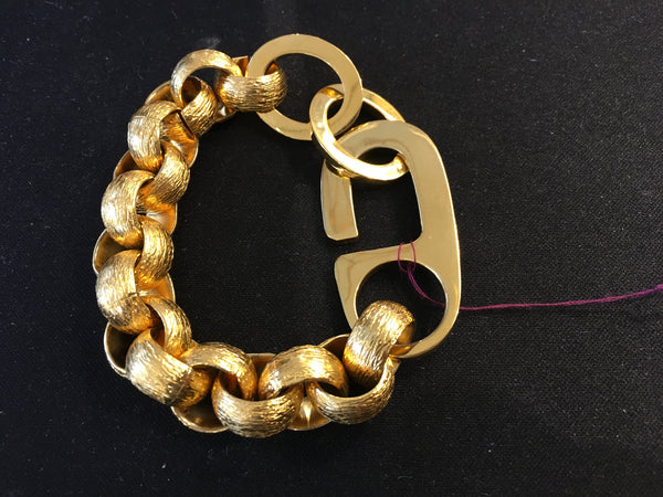 HAND MADE G CLASP AND ROLO CHAIN BRACELET