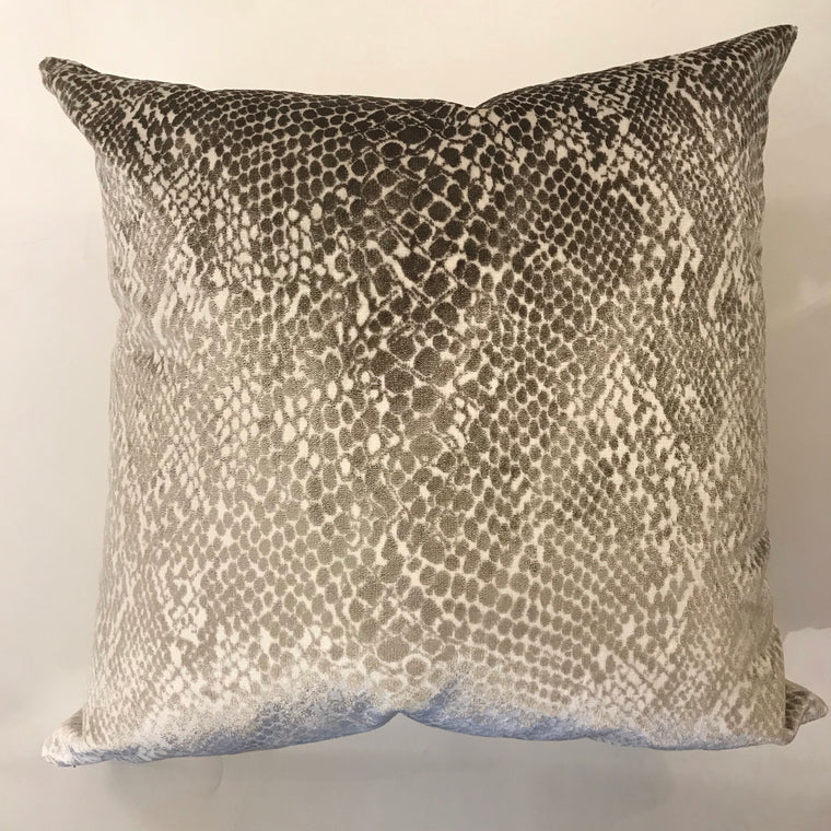 Blake Silver and White pillow - 23 x 23 - TWO in Stock