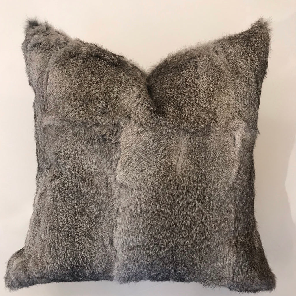 Rex Natural Gray Pillow -23x23- One in Stock