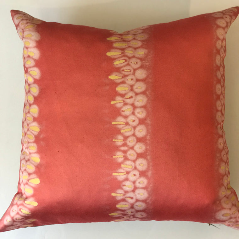 "Z - THE CINDY PILLOW  -  Ember Sherbert - 23"" X 23""  -  Two in Stock"