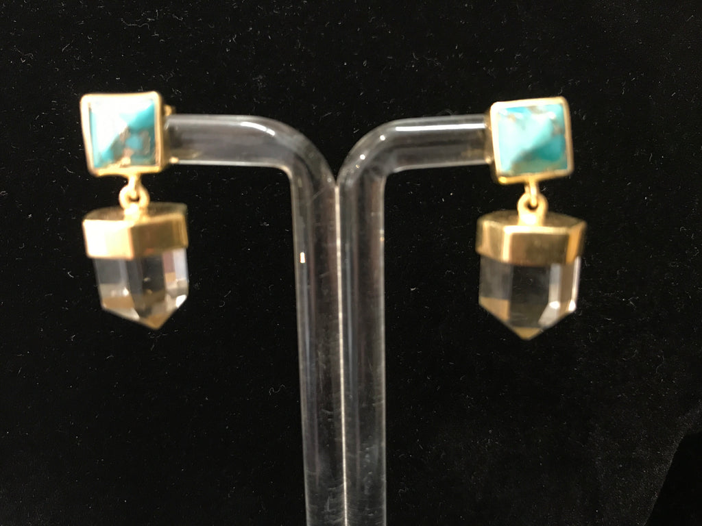 TURQUOISE QUARTZ EARRINGS