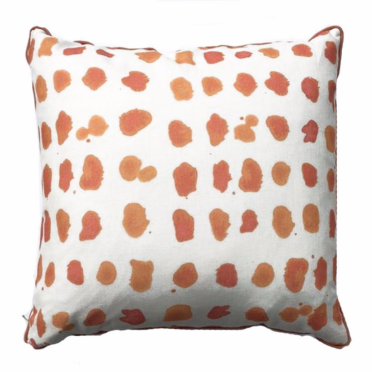 THE JULES PILLOW - Orange & White - Two In Stock- FREE SHIPPING