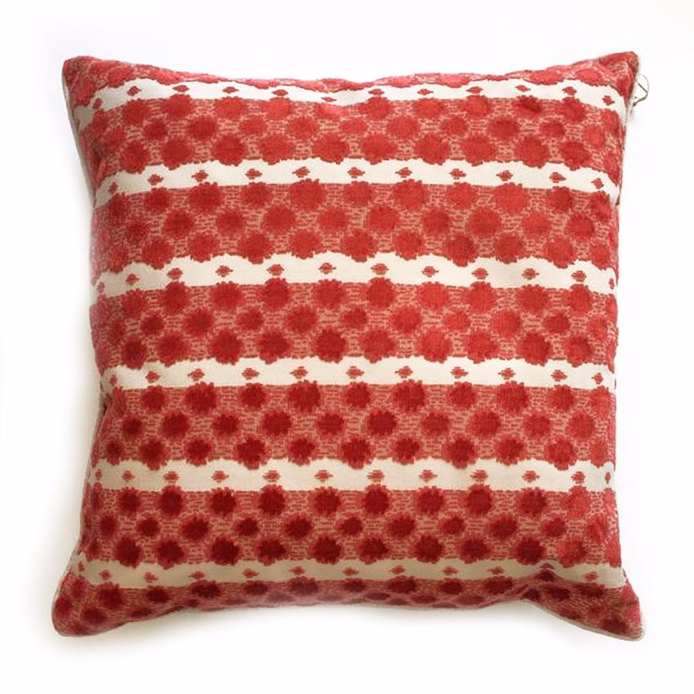 "THE POPPY PILLOW  -  Brilliant Coral  -  23"" x 23""  -  Two in Stock  -   FREE SHIPPING"