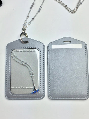 Secure Badge Holder-Silver