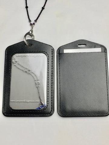 Secure Badge Holder- Black