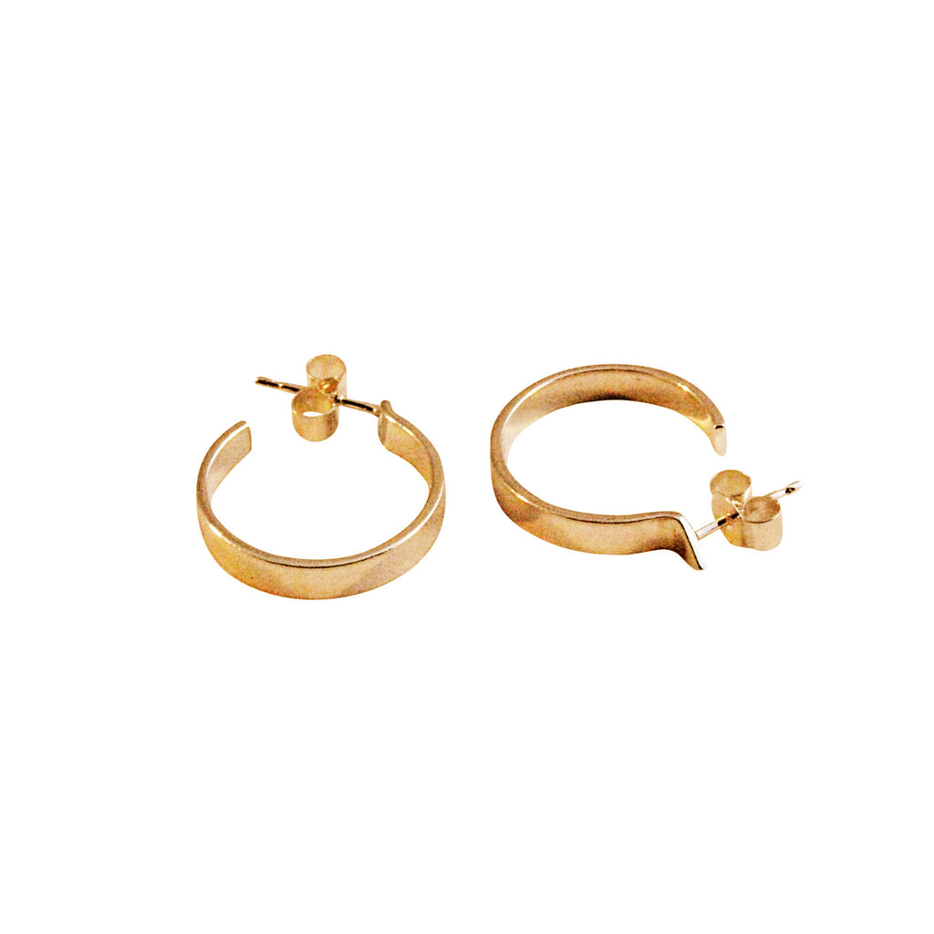 earrings us icing gold simple hoop