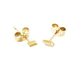 Mei-Li Rose solid gold studs