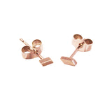 Mei-Li Rose solid rose gold earrings