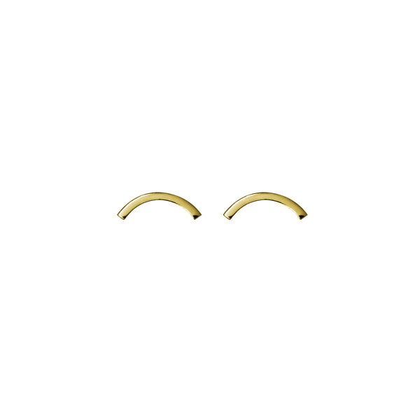 Arc Studs. Modern gold stud earrings