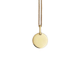 Solid gold circle necklace
