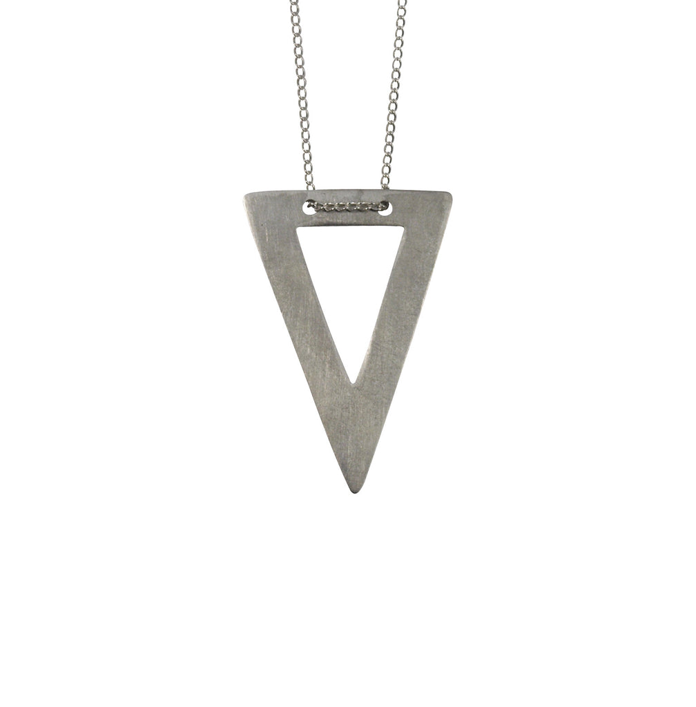 Mei-li Rose Cut Out Triangle Necklace fBaolimRTR