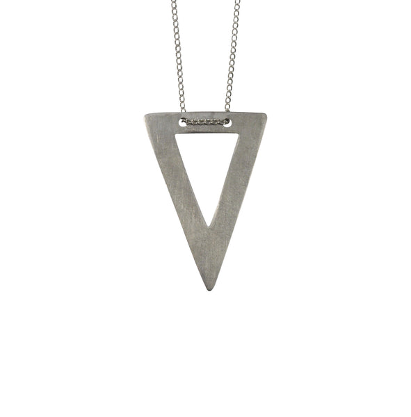 Geometric simple triangle necklace