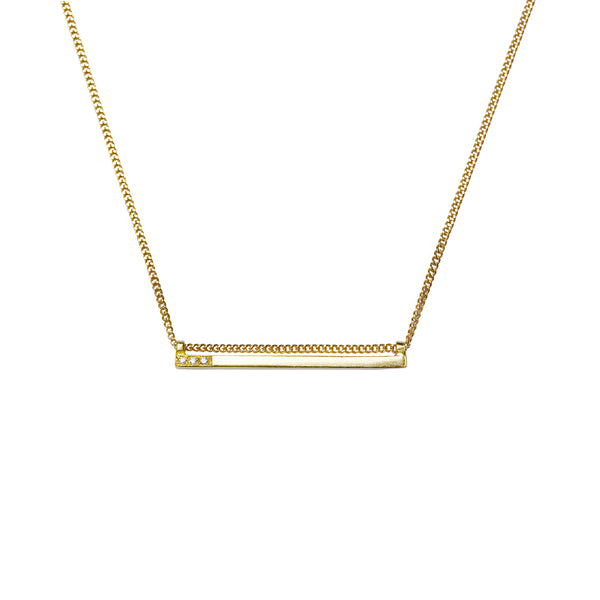 Solid gold and diamond necklace\