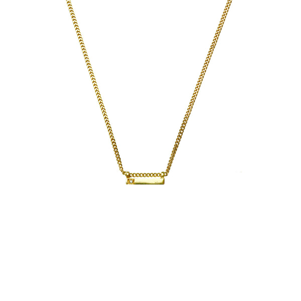 Diamond Mini Line Pendant