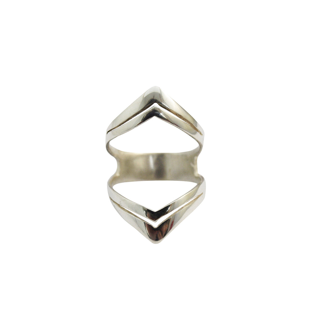 Mei-Li Rose Jewellery Double Arrow Cage Ring