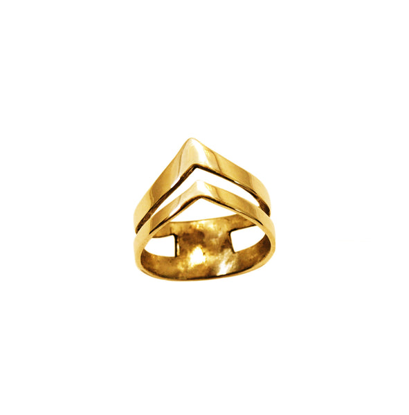Simple minimal gold midi ring