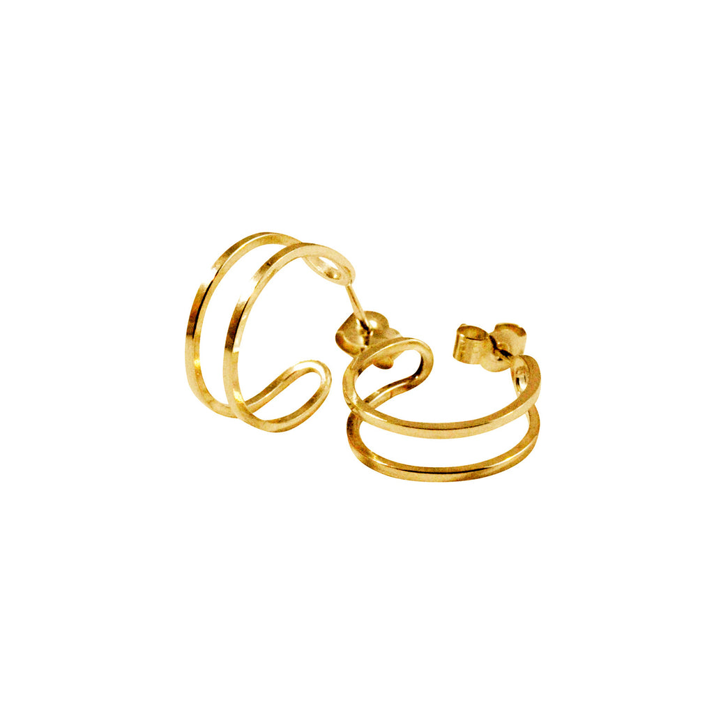 Simple minimal gold hoop earrings