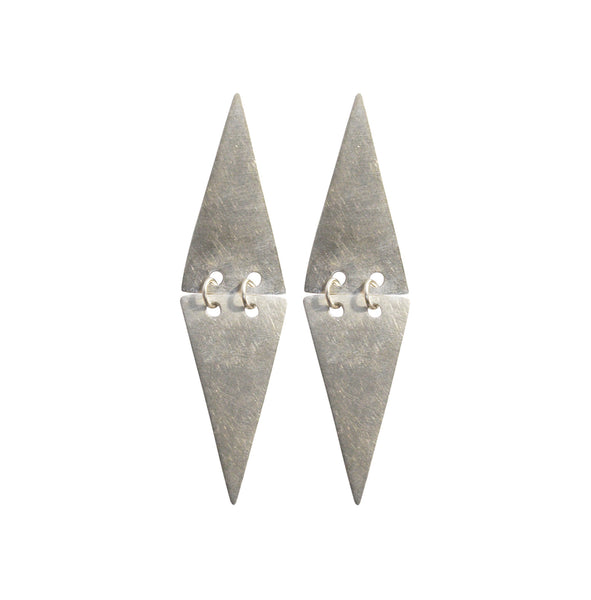Mei-Li Rose double triangle earrings