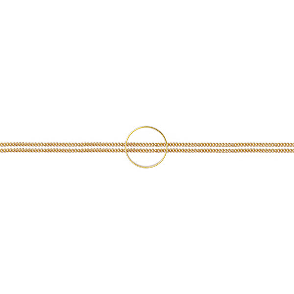 Solid gold circle bracelet