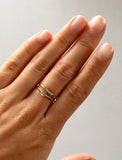 Solid gold stacker rings
